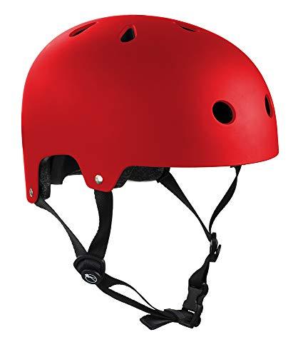 SFR Essentials Skate/Scooter/BMX Helm - Matt Rot, 49 - 52cm