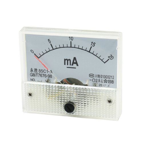 85c1 0-20mA klasse 2.5 Rectangle Analog Panel Mount DC Ampèremeter onderwijs