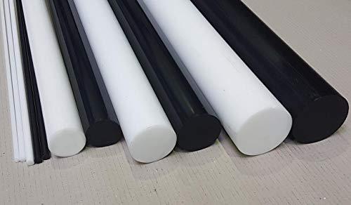POM Rundstab Rundmaterial Kunststoff ⌀ 30mm L= 500-2000mm natur/weiß (500 mm)