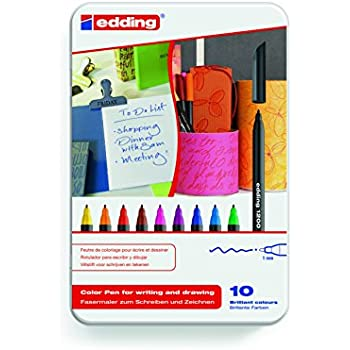 edding 1200 color pen Fasermaler Strichbreite 0,5-1mm Farben wählbar