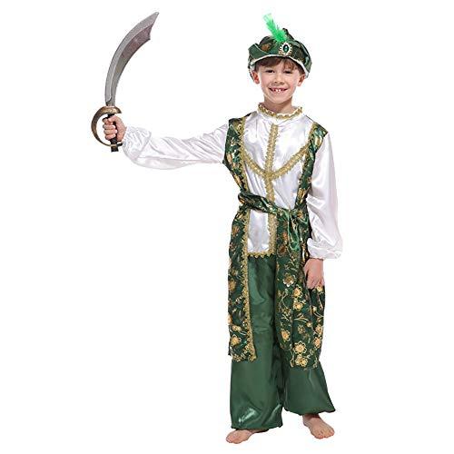 Kostüm Jungs Masquerade - Halloween Kostüm Kinder Halloween Kostüm Mädchen Jungen Halloween Cosplay Kleid Kostüm 4-12 Jahre Prinz Kostüm Show Kostüm Masquerade Arabischen König Kostüm Für Jungs (Größe : M)