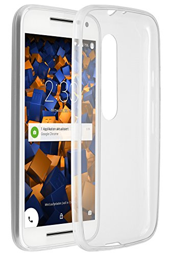 mumbi UltraSlim Hülle für Motorola Moto G (3. Generation) Schutzhülle Transparent (Ultra Slim - 0.55 mm)