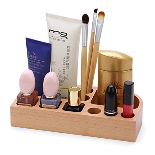 Boîte À Bijoux en Hêtre Pour Pinceaux, Rouge À Lèvres, Fond de Teint, Accessoires, Maquillage