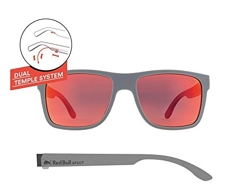 fa752ce0f7 Red Bull Spect Lunettes Wing I - Couleurs   Matt Grey Smoke Red Mirror