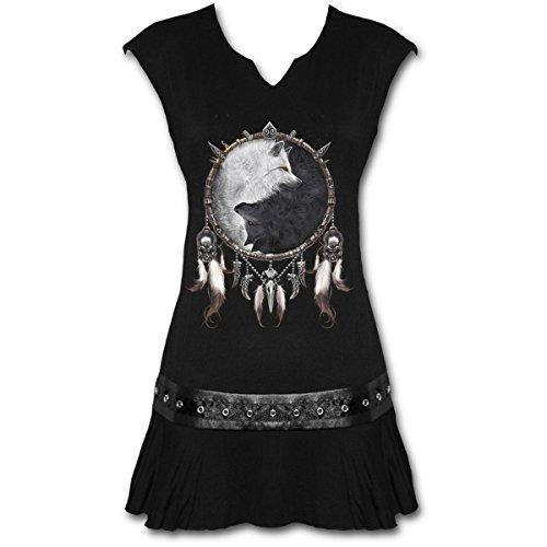 Spiral – Women – WOLF CHI – Stud Waist Mini Dress Black – X-Large