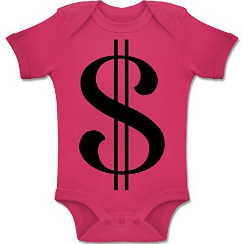 Shirtracer Karneval und Fasching Baby - Dollar Kostüm - 1-3 Monate - Fuchsia - BZ10 - Baby Body Kurzarm Jungen Mädchen (Dollar Baby Kostüm)