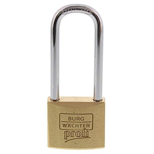BURG-WÄCHTER Vorhängeschloss, 6 mm Bügelstärke, Hoher Bügel, Ultrahart, 2 Schlüssel, Profi 116 HB 40 60 SB