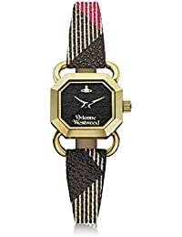 Vivienne Westwood Ravenscourt Women's Quartz Watch with Black Dial Analogue Display and Multicolour Leather Strap VV085BKBR