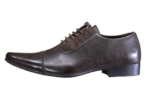 Galax - Chaussure Derbies Gh2081 Brown Marron