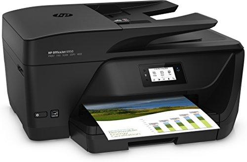 HP Officejet 6950 Stampante Multifunzione, Stampa/Copia/Scansione/Fax, Nero