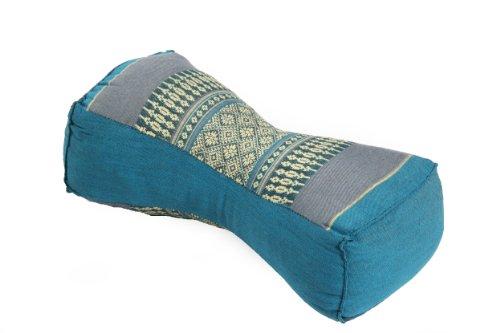 Thaikissen Nackenkissen 30x15x10 blau Kissen mit Füllung aus Kapok Massagekissen
