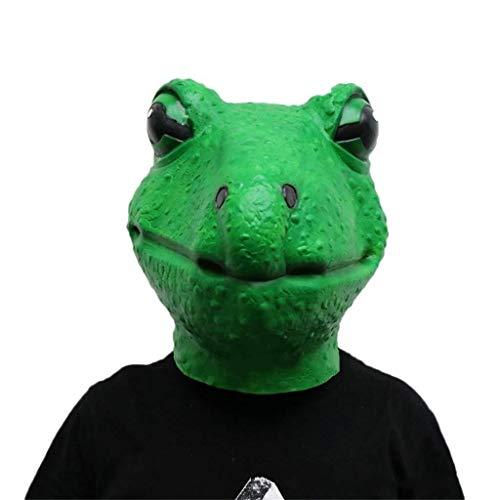 Frosch Kind Kostüm Deluxe - Die Frosch Latex Gesichtsmaske, Halloween Kostüm Scary Horror Creepy Clown Funny Demon Erwachsene und Kinder Maske Maskerade Party Cosplay Kostüm