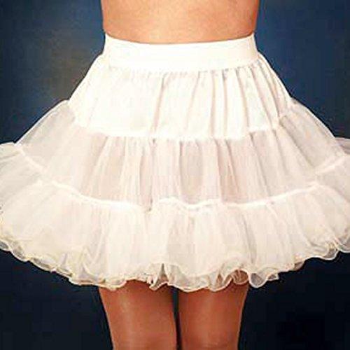 Petticoat Unterrock weiß Rockabilly Tellerrock Tütü Tüllrock Teller Rock Tutu Tü Tü Petti Coat Tu (Kostüm Teller Tutu)