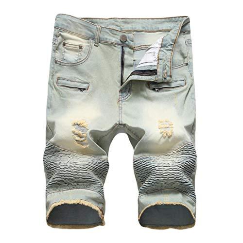 Elecenty pantaloni casual uomo jeans casual pantaloni zipper crumple fit straight denim da uomo stile vintage