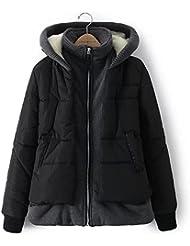 ZQQ Moda ropa de algodón con capucha para mantener el calor en otoño e invierno en Europa y de la chaqueta de la capa de cremallera suelto del uno mismo , picture color , s