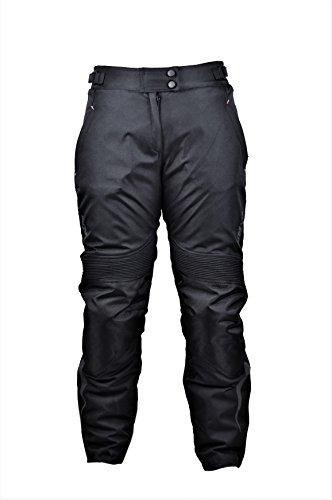 KENROD Damen Motorradhose Cordura Motorradhose Moto Hose mit Protektoren Farbe Schwarz Größe XXL