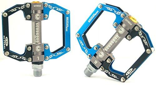 upanbike Mountain Bike Road Fahrrad 9/40,6cm Legierung flach Plattform Pedale versiegelte Kugellager, schwarz / blau