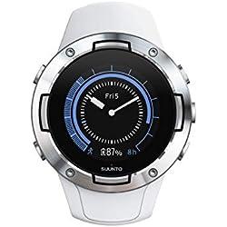 Montre Unisexe GPS Multisport Pour Adulte Sunnto 5, Verre Minéral, Inox, Silicone, Blanc, SS050300000