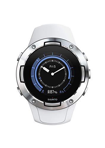 Suunto 5, Reloj multideporte GPS Unisex Adulto, Cristal mineral, Acero inoxidable, Silicona, Blanco, SS050300000