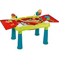 Keter Fun Table Aufklappbarer Kindertisch Spieltisch 79 x 56 x 50 cm (Türkis/Rot)