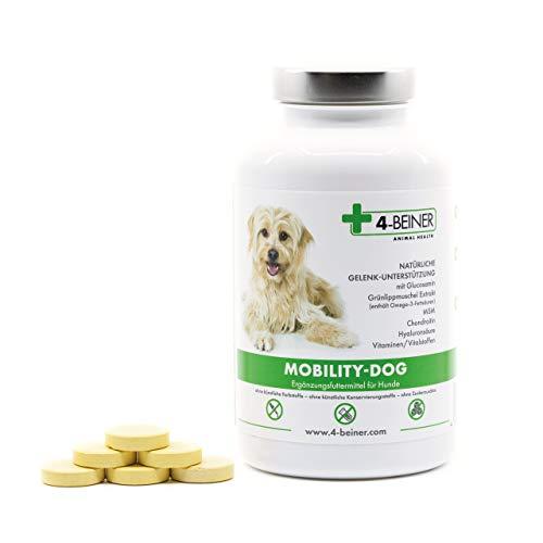 4-Beiner MOBILITY-DOG - natürliche Gelenk-Unterstützung mit Chondroitin, Glucosamin, MSM, Hyaluron, Weihrauch, Teufelskralle, Grünlipp-Muschel Extrakt, Bromelain, Kurkuma, 120 Gelenk-Tabletten -