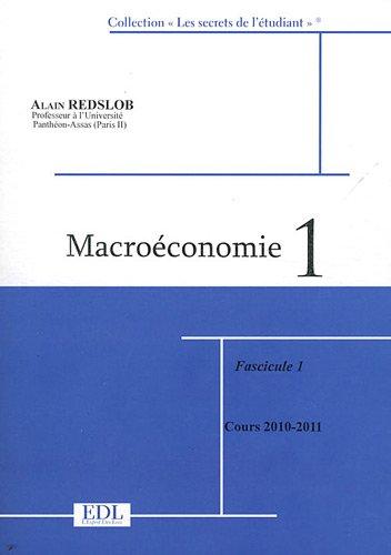 Macroéconomie : Tome 1, 2 volumes par Alain Redslob