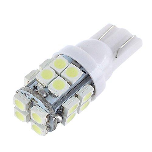 ZGMA 2pcs T10 Automatique Ampoules électriques 5W 20 Éclairage intérieur White T10