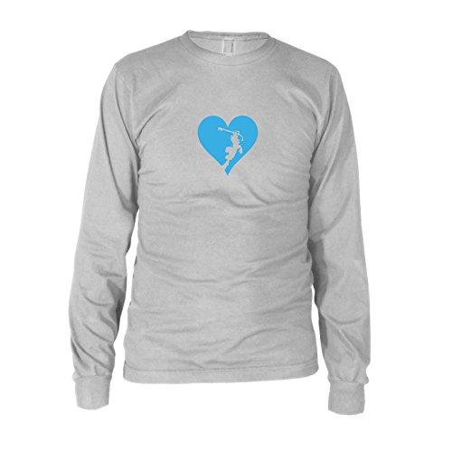 Heart is a Kingdom - Herren Langarm T-Shirt Weiß