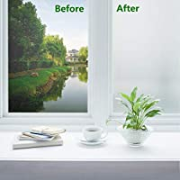 Frosted Privacy Glass Window Film 40 x 200 cm Opaque Privacy Window Sticker Door Cover Anti-UV Static for Office Bathroom Home (Frosted)