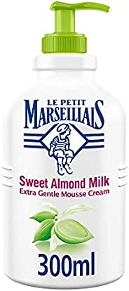 LE PETIT MARSEILLAIS Liquid Soap, Sweet Almond Milk, Extra Gentle Hand Mousse Cream, 300ml