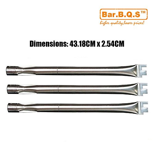 Bar. b.q.s Ersatz Edelstahl-Brenner 13041(3Pack 431.8mm) für BBQ grillware, Home Depot, Ducane, Lowes Modell Grills -