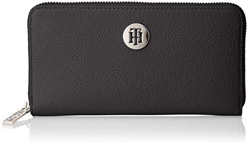 Tommy Hilfiger Th Core Lrg Za Wallet - Portafogli Donna, Nero (Black), 2.5x10x19 cm (B x H T)
