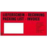 Lieferscheintaschen Dokumententaschen DIN lang 235x132+20 mm light