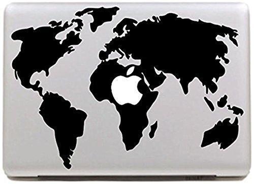 Macbook Skin Aufkleber, Morbuy abnehmbare Kunst Creative Anti-Kratz-Beschichtung Skin Vinyl Schutz MacBook Aufkleber Pro 15 A1707 Touch Bar (schwarze - Aufkleber Welt