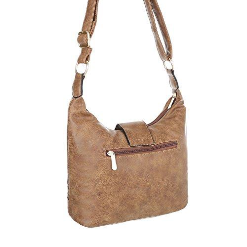 Taschen Handtasche In Used Optik Hellbraun