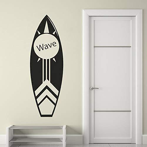 zzlfn3lv Surfbrett Wandkunst Aufkleber Küstenstrand Dekor Surfen Surfbrett Wandaufkleber Tropisches Wasser Sport Vinyl Wand Poster 42 * 129 cm (Tropische Zimmer Dekor)