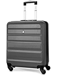 Aerolite 56x45x25 easyJet British Airways Jet2 Maximum Allowance 46L Lightweight Hard Shell Carry On Hand Cabin Luggage Travel Spinner Suitcase with 4 Wheels