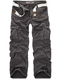 AYG Herren Cargo Hose Freizeit Baumwolle Trousers Casual Sport Army 29-40