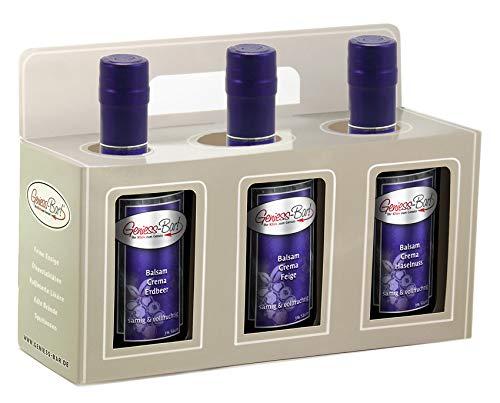 Geschenkbox 3x 0,35L Crema Erdbeer / Feige / Haselnuß 3% Säure Manufaktur Qualität