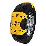 Schneeketten Schneekette, 6pcs Anti-Rutsch-verstellbares Reifen-Rad-Notlösung Traction Chains Passt Ketten für Auto, LKW, SUV Fahrbahn Snow Road (größe : 6pcs)