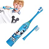 Children Portable Cute Cartoon Battery Type Soft Brush Electric Toothbrush Ultrasonic