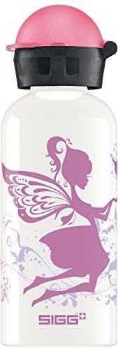 Sigg Mädchen Trinkflasche Fairy World, Weiß/Rosa, 400 ml, 8486.6