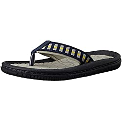 Bubblegummers Girl's Joy Yellow and Black Indian Flip Flops - 4 kids UK/India (22 EU) (4718024)