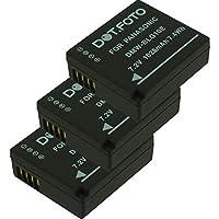 3 x Dot.Foto Batterie de qualité pour Panasonic DMW-BLE9, DMW-BLE9E, DMW-BLG10, DMW-BLG10E - 7,2v / 1025mAh - garantie de 2 ans - Panasonic Lumix DMC-GF3, DMC-GF5, DMC-GF6, DMC-GX7, DMC-GX80, DMC-GX85, DMC-LX100, DMC-TZ80, DMC-TZ81, DMC-TZ100, DMC-TZ101