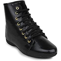 Beautiful Black color Synthetic women's boots from Sheneya::AB_BLACK_37