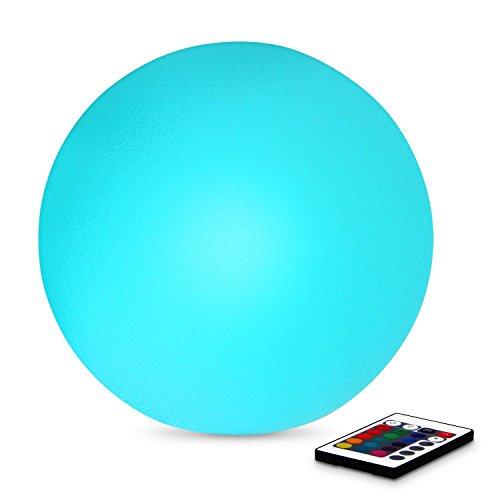 Albrillo LED RGB Kabellose Stimmungslicht Tischlampe mit Fernbedienung, 16 Farben, 4 Modi, dimmbar, 20cm Durchmesse