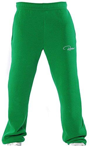 Redrum Plain Trainingshose Jogginghose sweatpants fitness Sport streetwear (XL, Grün)