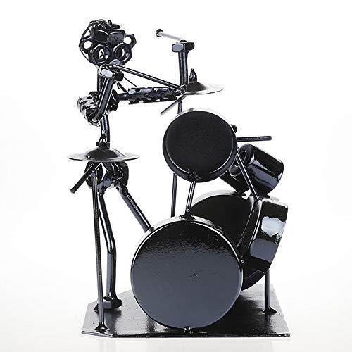 Hardworking bee Jazz Schlagzeuger Metall Schmiedeeisen Musiker Drum Band Iron Man Drum Kreatives Geschenk Interessant