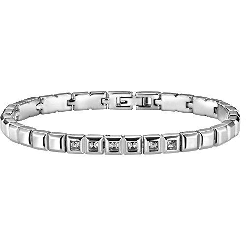 Breil fashionnecklacebraceletanklet - gioiello da polso, con cristallo swarovski, acciaio inossidabile, 22
