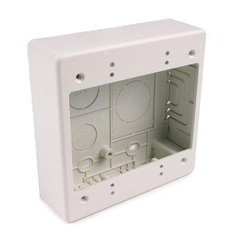 Hellermann Tyton TSRFW-JBD Dual Gang Junction Box, PVC, Office White by Hellermann Tyton Gang Junction Box